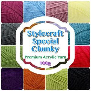 Stylecraft-SPECIAL-CHUNKY-Premium-Acrylic-Knit-Knitting-Crochet-Yarn-Wool-100g