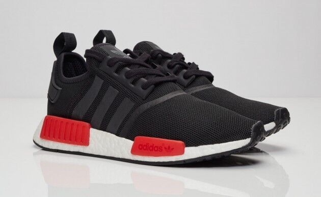 950bdc8fc adidas Men s NMD R1 Runner Core SNEAKERS Black White Red Bb1969 Size 8 for  sale online