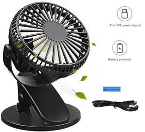 3-Vitesses-Ventilateur-Portable-Silencieux-Table-USB-Batterie-Lithium-Incluse