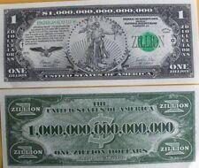 Zillion Dollars $ USA Money Bill FUNNY Novelty Gag Prank Joke Party Not Real