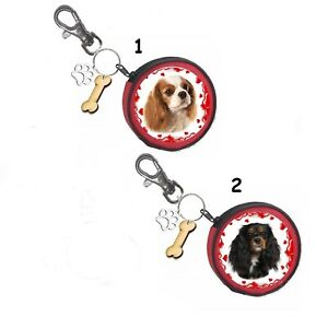 Cavalier King Charles Spaniel Geldbörse Coin Purse Oder Snackbeutel Or Treat Bag Heller Glanz Leckerlibeutel Hunde