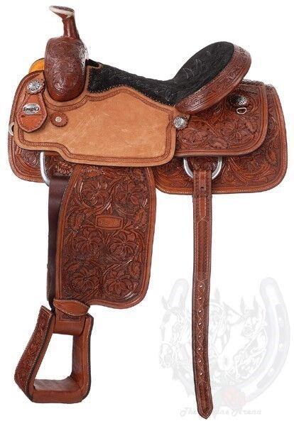 plata Royal Rising Estrella becerro Roper Western Saddle (15  ,16 ,17  )