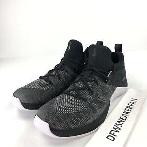 Nike Metcon Flyknit 3 para hombres 12 Negro Blanco Zapatos