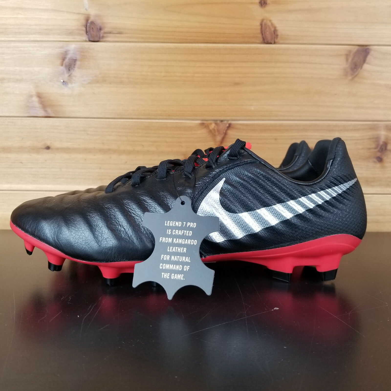 NIKE NIKE NIKE TIEMPO LEGEND 7 PRO FG SOCCER CLEATS MEN'S SHOES  BLACK RED AH7241-006 4f9625