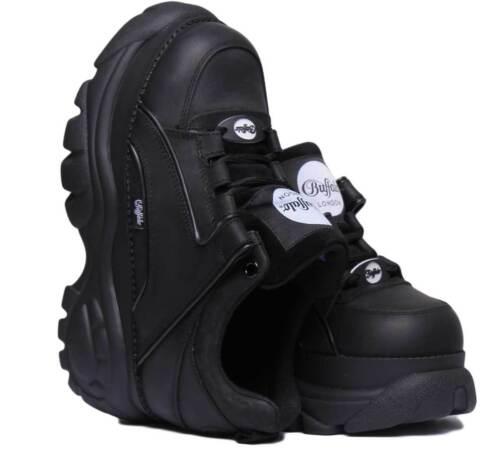 Buffalo Classics Low 1533094 Women Leather Black Platform Shoes Size UK 3-8