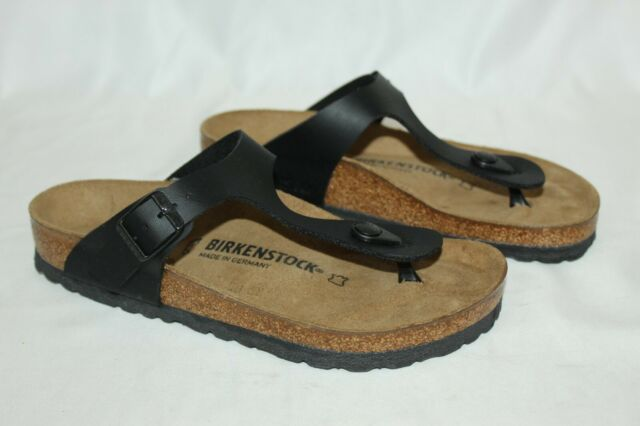 NEW Birkenstock Gizeh Birko-Flor Sandals Thongs Unisex 39 W 8 M 6 Black 0043691