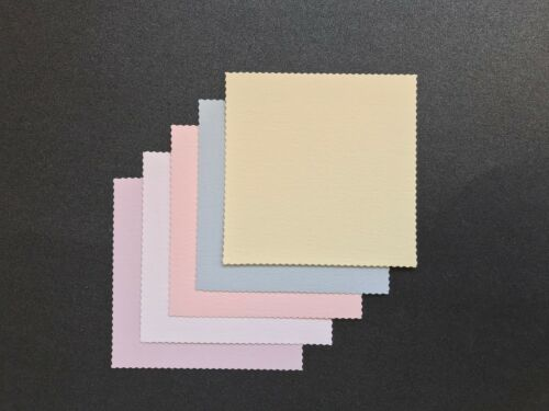 Tarjeta de panel de superposición dentado Filo Topper//Adorno 55mm Cuadrado pk10