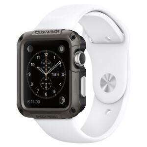 Apple-Watch-Series-3-2-42mm-Spigen-Tough-Armor-Shockproof-Case-TPU-Cover