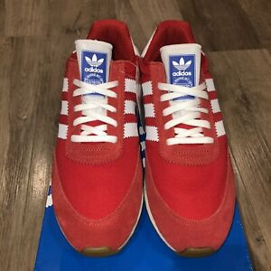 Adidas-I-5923-Iniki-Mens-Casual-Shoe-Red-Scarlet-Cloud-White-BD7811-Multiple-Szs