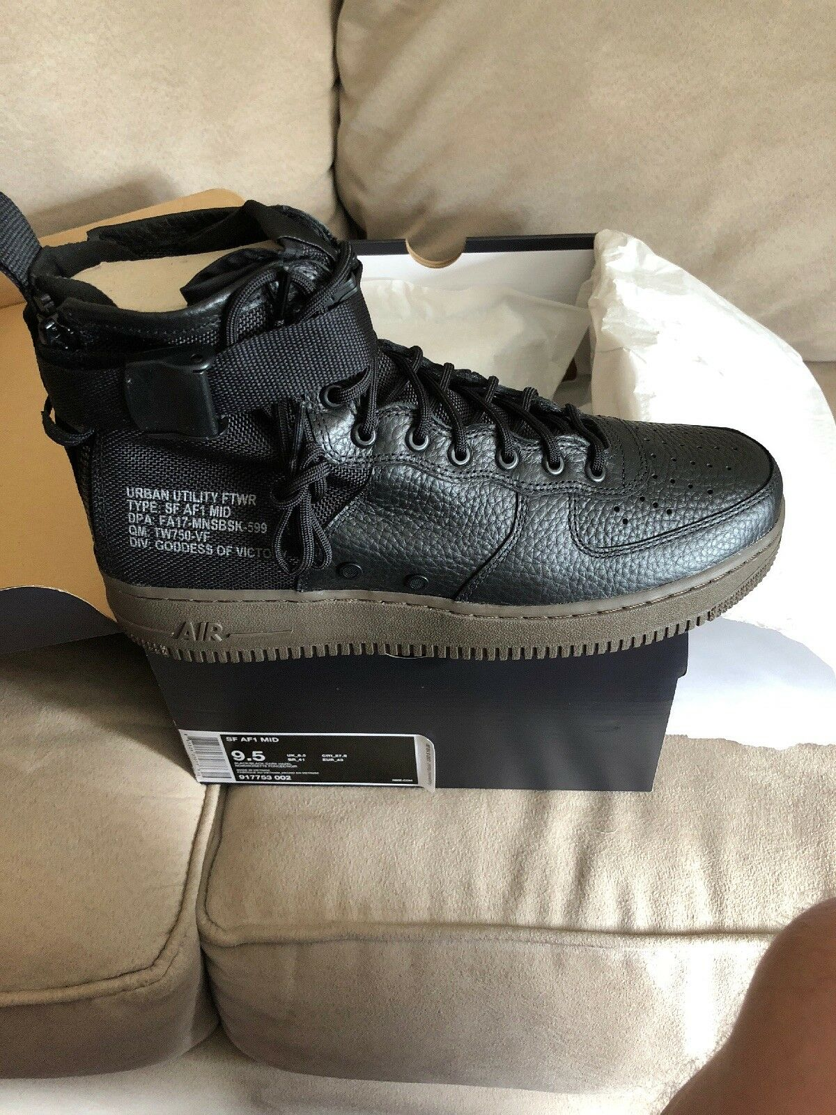 NIKE AIR FORCE 1 SF AF1 MID SPECIAL FIELD BLACK-DARK HAZEL Price reduction Comfortable and good-looking
