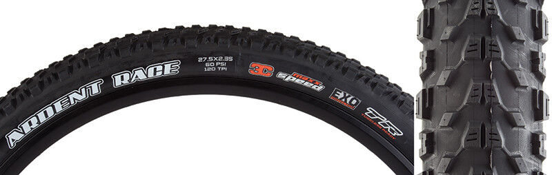 Maxxis Ardent Race  3C EXO TR Tire  27.5x2.35 Bk Fold 120  simple and generous design