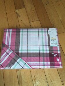 Next-Pink-Check-Single-Duvet-Bedset-BNIP