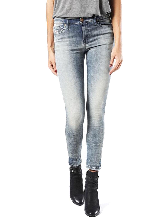 Diesel Skinzee 0856F Damen Jeans Hose Skinny Super Slim