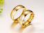 Coppia-Fedi-Fede-Fedine-Anello-Anelli-Oro-Fidanzamento-Nuziali-Cristallo-Occhio miniatura 3