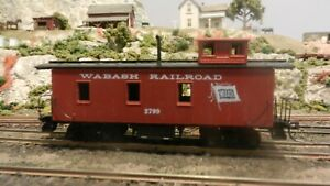 Roundhouse-MDC-HO-Old-Caboose-Wabash-Upgraded-Exc