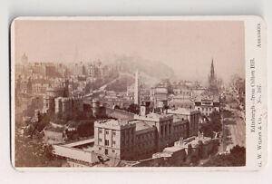 Vintage-CDV-Edinburgh-Scotland-From-Calton-Hill-G-W-Wilson-Phot-Aberdeen