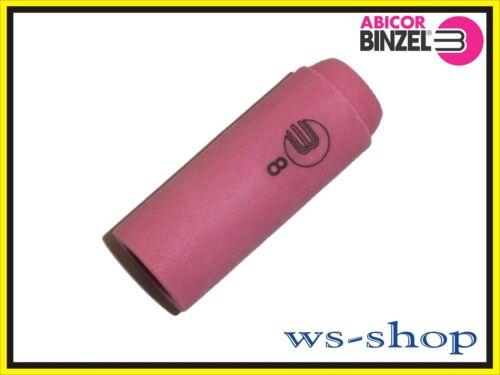 18 WIG TIG Gasdüse Brenner aus Keramik Gr 26 47mm 8 von Abicor BINZEL SR17