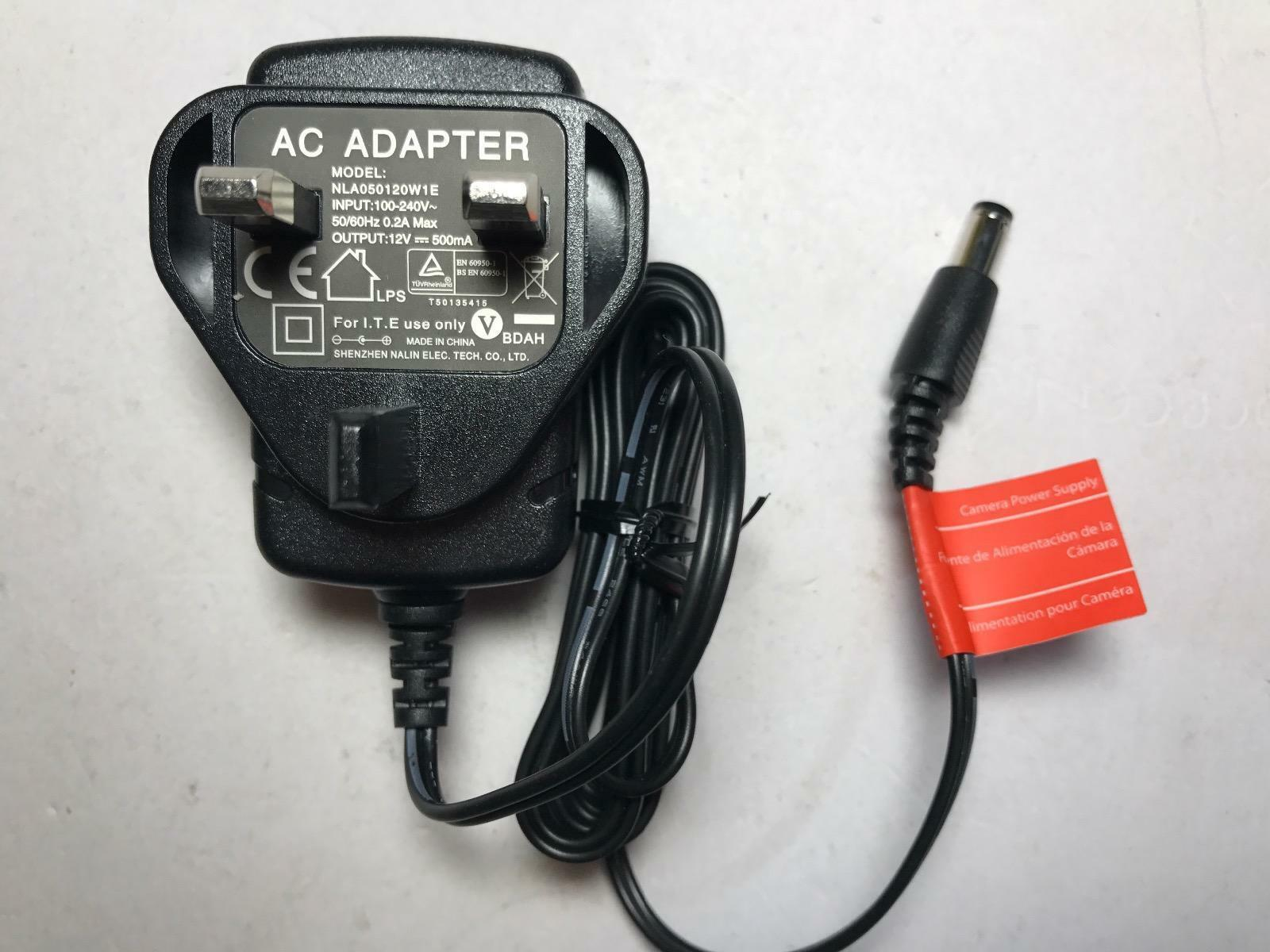 Replacement for 12V 400mA Switching Power Supply S008ACM1200040 UK Plug