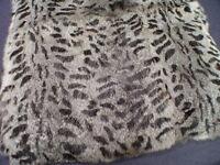 Rabbit Fur Throw Exotic Striped Spotted Gray Cat Look Plate Pelt Fur 20x45 Ss4