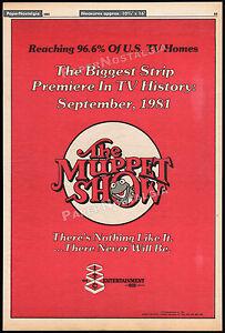 THE-MUPPET-SHOW-Original-1981-Trade-AD-TV-promo-poster-Frank-Oz-Jim-Henson