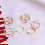 6Pcs//Set Vintage Gold Boho Midi Knuckle Finger Rings Women Fashion Jewelry Gifts