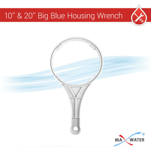 """Big Blue 20/""""x4.5/""""  Whole House Water Filter 2 stage System 1/"""" Ports"""