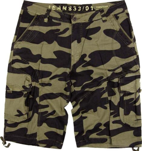MENS MILITARY-STYLE 100/% COTTON CAMO CARGO SHORTS SIZES 30-52 #27SC1//C3 BNWT