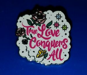 Disney Pin Princess Quote True Love Conquers All Free Ship Ebay