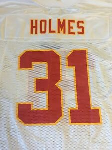 Details about PRIEST HOLMES #31 KANSAS CITY CHIEFS NFL WHITE REPLICA JERSEY FREE SHIPPING