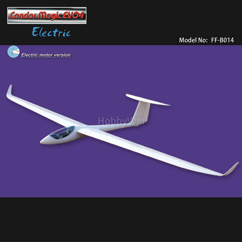 Condor Magic EVO4 Electric Glider 3000mm ARF with Motor & Propeller RC Sailplane