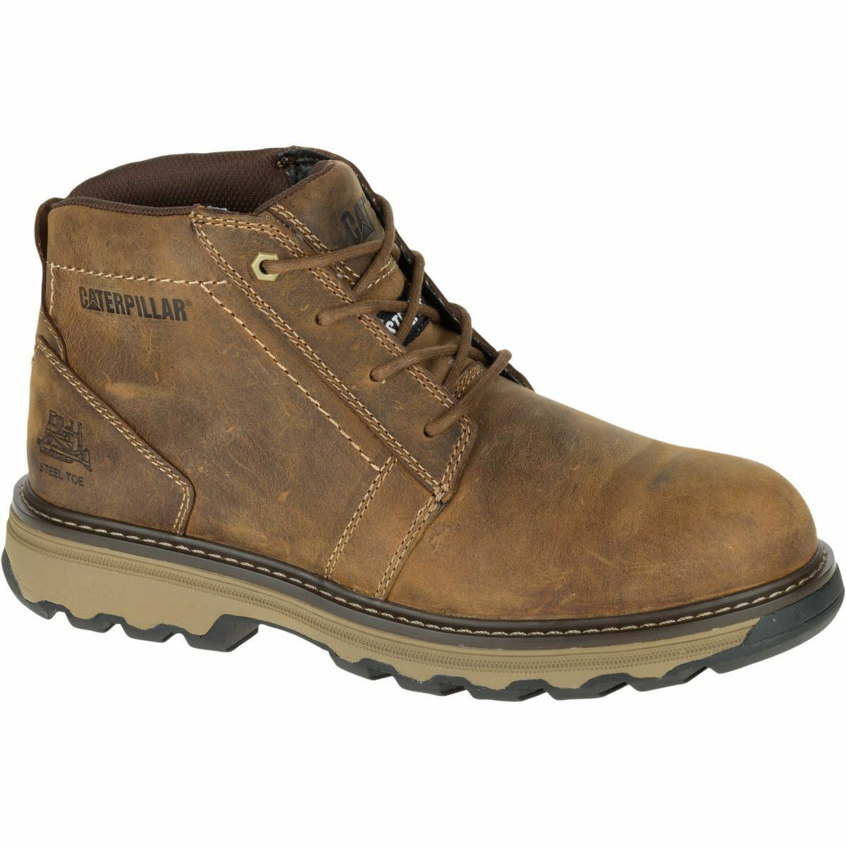 Caterpillar Boots Mens Parker Esd Steel Toe Dark Beige P90715