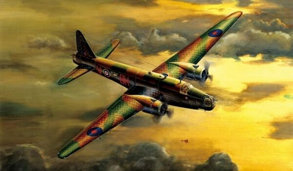 Wellington Mk.3 Aircraft 1 72 Plastic Model Kit TRUMPETER