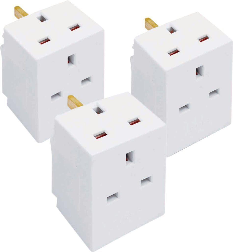Bloc 3 Voies Triple Triple Triple Pack Socket Splitter 13a uk plug adaptateur secteur fuse fusible UK 03cfe4