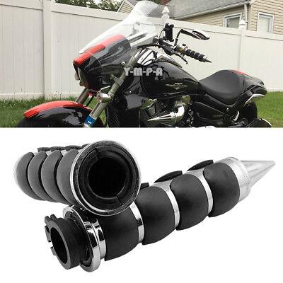 "Motorcycle Chrome 1/"" Handle Bar Hand Grip For Suzuki Boulevard C109R C50 C90"