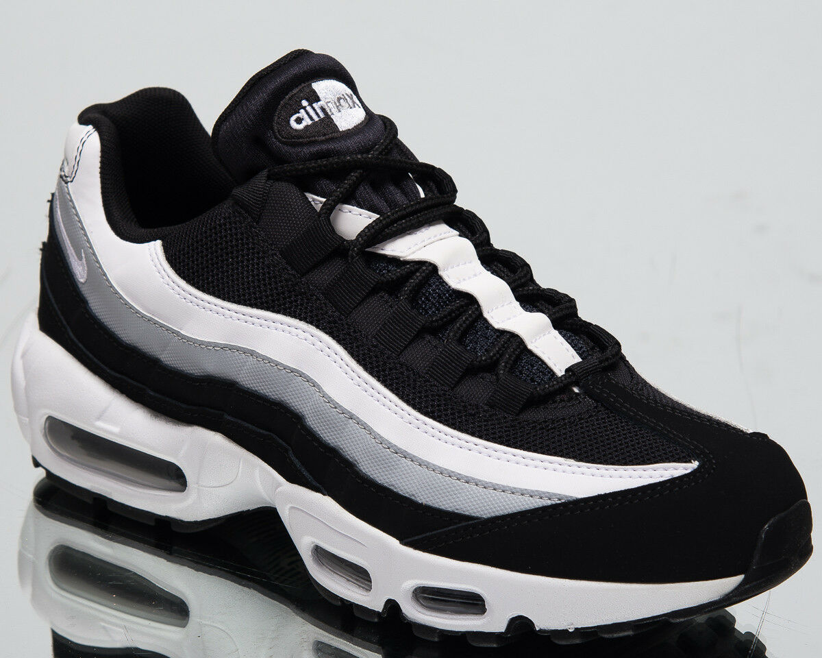 Nike Air Max 95 Essential Men's New Black White Grey Casual Sneakers 749766-038