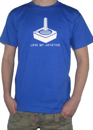 """/""""love my joystick/"""" t-shirt top de jeu old school inspiré par Atari Commodore 64"""