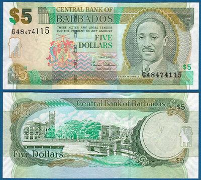 BARBADOS  5 Dollars 1.5.2007  UNC  P. 67