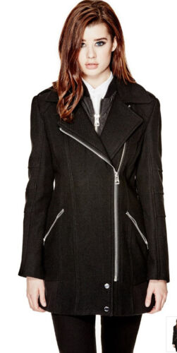 Jacket Nib Back Flare Coat 5 178 Zip Wool Blend 4 S Guess Antonia SnS4qrA8