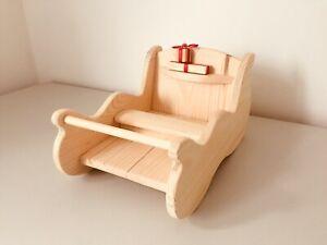 Handmade Wooden Christmas Sleigh Sled Sledge Decoration Ornament Toy Gift Ebay