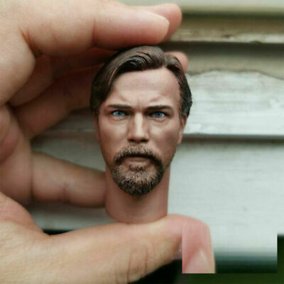 "1//6 Male Obi-Wan Head Carving w// Neck Model Fit 12/"" Action Figure Body Doll"