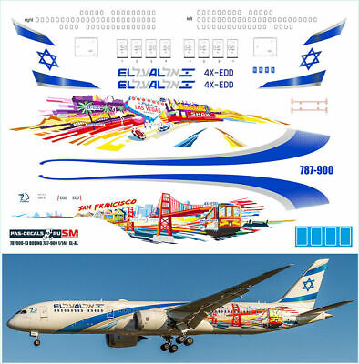 1:144 PAS-Decals #787900-10 Boeing 787-900 American New decal  NEU !!!