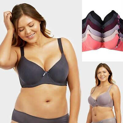 Women's Plus Size Bras with Adjustable Straps and Wide Band (6 Pack)