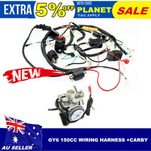 Details about GY6 150cc Carby Electrics Wiring Harness Quad ATV Buggy on
