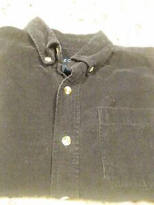 Boys-IZOD-BLACK-Corduroy-Button-Down-Shirt-7X