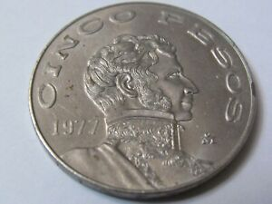 Five-Pesos-Coin-1977-Great-condition