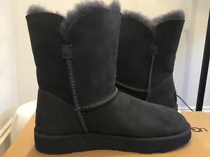 ca46feae127 Details about UGG Australia Imperial Blue CLASSIC SHORT Cuff SHEEPSKN Suede  BOOTS 1016418 Sz 6