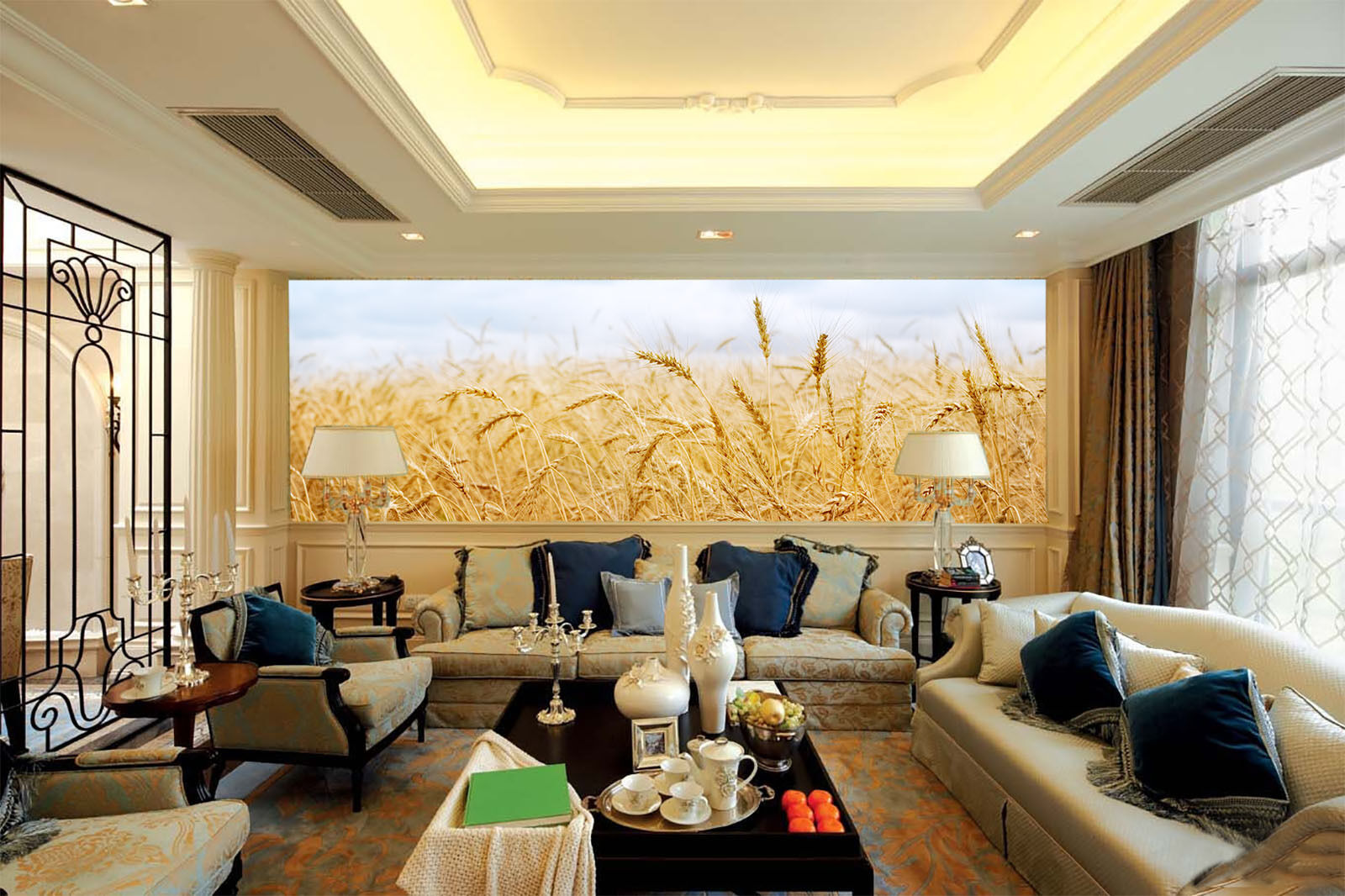 3D Endless Mature Wheat Field 31 Wall Paper Wall Print Decal Wall AJ Wall Paper