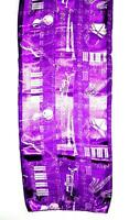 Scarf White & Violet Purple Violins Clarinets Pianos Music Musical Instruments