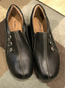 thom mcan womens melba black size 75 slipon casual shoes