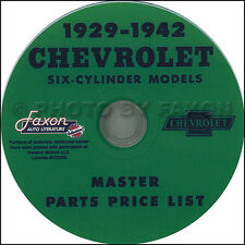 Chevy Parts Catalog CD 1936 1937 1938 1939 1940 1941 1942 Chevrolet Car Truck
